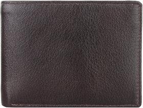 DAANKIE Men Brown Original Leather RFID Wallet 10 Card Slot 2 Note Compartment