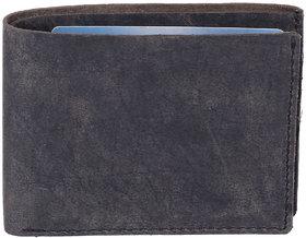 DAANKIE Men Black Original Leather RFID Wallet 8 Card Slot 1 Note Compartment