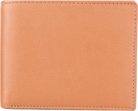 DAANKIE Men Brown Pure Leather RFID Wallet 4 Card Slot 2 Note Compartment
