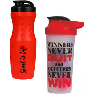 True Indian Special Combo Pack Buy 1 get 1 Free Sport Shaker and Sipper Bottle/Gym and Water Bottle (Pack of 2)