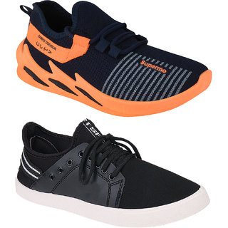 Birde Mesh Multicolor Casual Shoes For Men (Pack of 2)