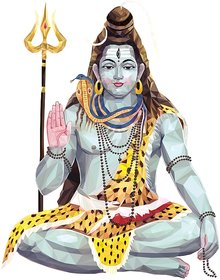 lord shiva 4 Poster 300 GSM Thick Paper Print By 5 Ace Sticker Paper Poster, 12x18 Inch