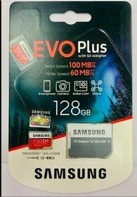 SAMSUNG  128GB EVO PLUS (MB-MC128GA/IN) Micro SDHC UHS 3 Memory Card