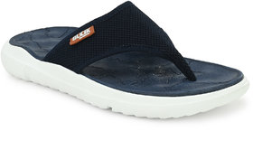 Bucik Navy Men's Synthetic Leather Casual Slipper