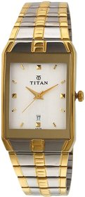 Rectangle Gold Metal Men 9151Bm01 Elegant Watch