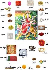 Navratri Puja Item Kit  Maa Durga Poojan Samagri Kit  Devi Maa Pooja Samagri Kit (26 Items in This Pack)