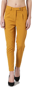 Avyanna Women's Mustard Lycra Cigarette Pants