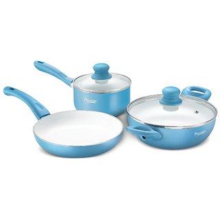 Prestige Luxe Ceramic Build Kitchen Cookware Set