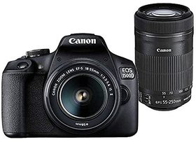 Canon EOS 1500D 24.1MP Digital SLR Camera (Black) with 18-55 and 55-250mm is II Lens 16GB Card and Carry Case