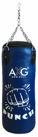 AXG Unfilled Boxing Punching Bag 3 ft With stainless steel chain (Heavy PU Material)