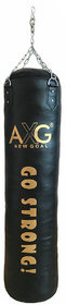 AXG Unfilled Boxing Punching Bag 4 ft With stainless steel chain (Heavy PU Material)
