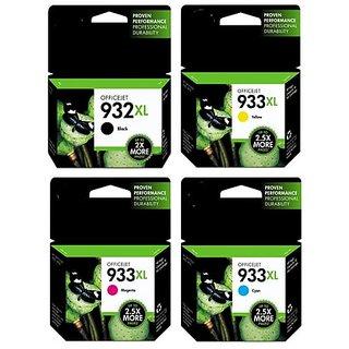 HP 932XL / 933XL Plotter Cartridge Pack Of 4 Use HP Officejet 6100 , 6600 e, 6700 Premium 7110,7510,7610,7612 Ink   Toner Cartridges