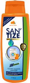 Santize Cloth Washing Orange Fresh Sanitizers 500 mL Pack of 1