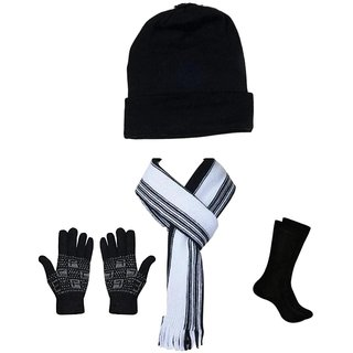 EXCLUSIVE Winter Combo Unisex (Cap-Muffler-Gloves-Socks)