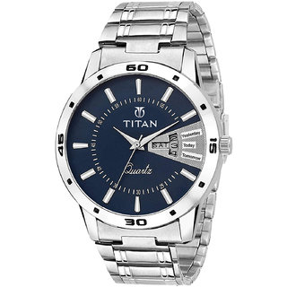 Titan Men Limited Edition Silver Chain Watch