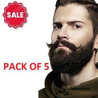 Moustache and Beard Hair Growth Oil Enhancer Fuller Dense Hair (60ml X 5 Bottles)