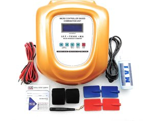 HME 3 in 1 IFT + TENS + MS Combo Unit With LCD Display (  Golden Body )