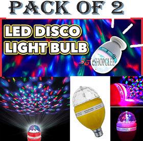 LED Disco Bulbs / Decoration Lamps / Diwali lighting Bulb (Pack of 2 Bulbs)