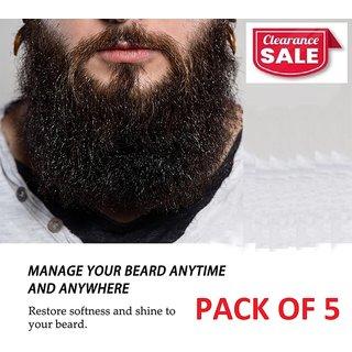 Essential Oil for Beard Nutrition Growth (60ml X 5 Bottles)