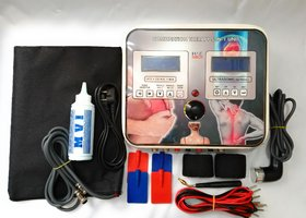 HME 5 in 1 Combination Unit ( IFT TENS MS US DEEP HEAT ) With Double LCD Electrotherapy Device ( Fiber Body )