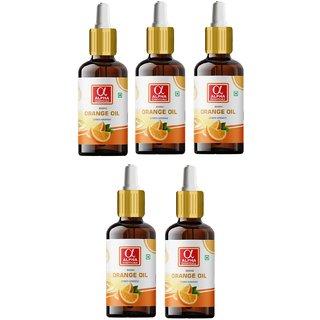 Alpha Essenticals Orange Essential Oil Citrus sinensis, 100 Pure Aroma, Therapeutic Grade, Pack of 5, 15ml Each