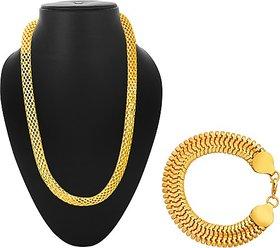 Alanswiss Stainless Steel Jewel Set (Gold)