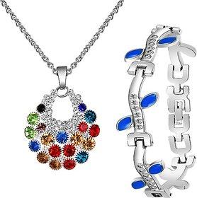 Alanswiss Alloy Jewel Set (Multicolor, Blue)