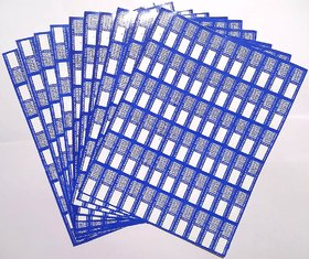 Warranty Seal Sticker Round Rectangular Blank Labels Self Adhesive - Colour - Blue / Red