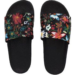 Pampys Angel New Flower Flat Slipper Flip Flops for Women