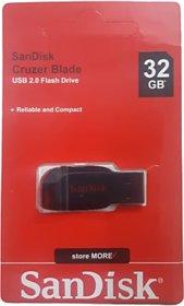SanDisk Cruzer Blade 32 GB Flash Drive USB 2.0 Pen Drive(Black  Red)
