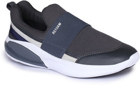 Refoam Men's Grey Textile Slip On Casual Sneaker Shoes