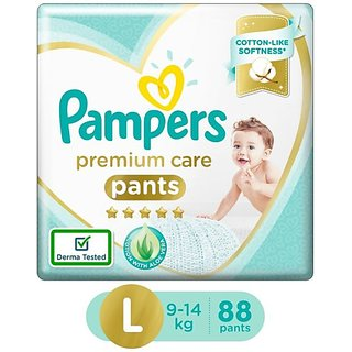 Pampers Premium Care Pants Diapers Monthly Box Pack - L (88 Pieces)