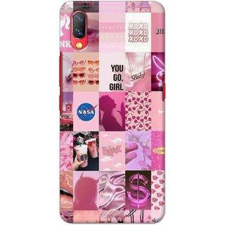 Digimate Hard Matte Printed Designer Cover Case For VivoNexS