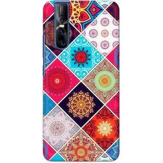 Digimate Hard Matte Printed Designer Cover Case For VivoV15Pro