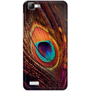 Digimate Hard Matte Printed Designer Cover Case For VivoV1