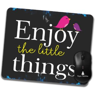Paper Pebbles Motivational Quotation Print  Mousepad  (Multicolor With HD Print Quality)