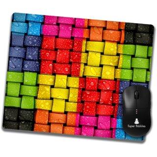Paper Pebbles Designer Mouse Pad Non-Slip Rubber Base Mouse pad for Laptop  Desktop  (Multicolor With HD Print Quality)