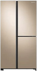Samsung 689 L Inverter Frost Free Side-by-Side Refrigerator (RS73R5561F8, Gentle Gold)