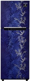 Samsung 253 L 2 Star Inverter Frost-Free Double Door Refrigerator (RT28T30226U/HL, Mystic Overlay Blue)