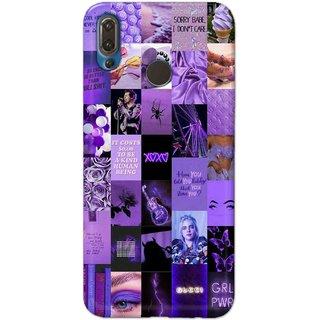 Digimate Hard Matte Printed Designer Cover Case For HuaweiP20Plus