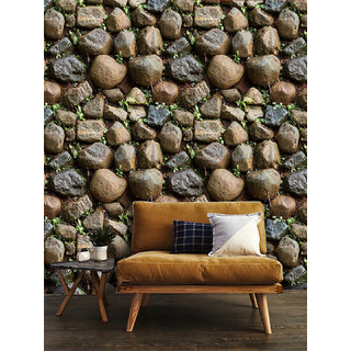 Jaamso Royals  Modern Brick Wall 3D Wall Poster, Wallpaper, Wall Sticker Home Decor Stickers for bedrooms, Living Room, Hall, Kids Room, Play Room (Size  20045 CM i.e. 9 Sq Ft)
