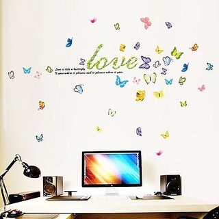 JAAMSO ROYALS Butterflies Fly TV Living Room Wall Sticker for Home Dcor