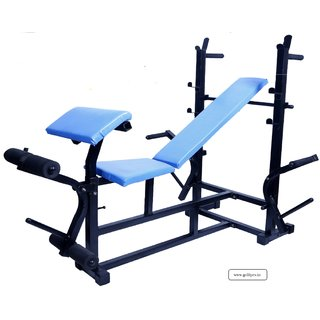 GoFiTPrO- PHELIX 7 in 1 MUTIPURPOSE Exercise (Black) 2X2 Pipe Size Home Gym Bench with Double Support