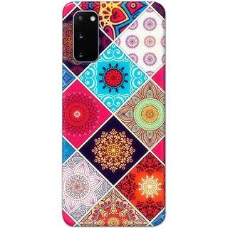 Digimate Hard Matte Printed Designer Cover Case For SamsungGalaxyS20