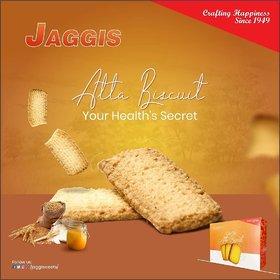 Jaggis Special Desi Ghee Atta Biscuits - 2 Box of 350 gm each (Total 700 gm)