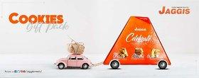 Jaggis Special Kesar Fancy Cookies+ Almond Fancy Cookies + Cheese Hearbs Fancy Cookies Gift Pak