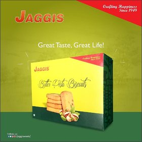 Jaggis Special Butter Pista Cookies - (Pack of 2) - 450gm each (Total 900gm)