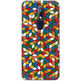 Digimate Hard Matte Printed Designer Cover Case For Nokia7.1