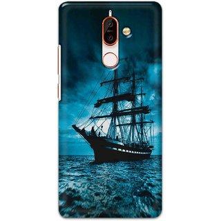 Digimate Hard Matte Printed Designer Cover Case For Nokia7plus