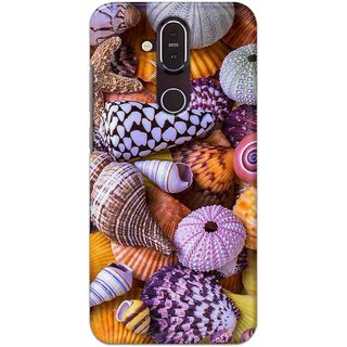 Digimate Hard Matte Printed Designer Cover Case For Nokia8.1
